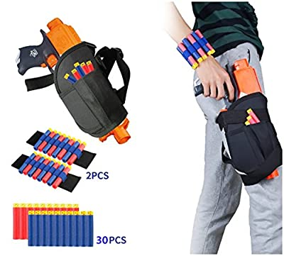 Kids Tactical Waist Bag with Dart Wrister Kit for Nerf Guns N-strike Elite Series Blaster, Tactical Waist Bag for kids, Adjustable Nerf Gun holster for Nerf Guns (30 Darts Included)