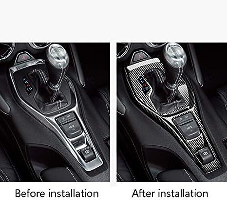 Nrpfell Auto Gear Shift Panel Abdeckung Verkleidung Aufkleber Kohle Faser Für Camaro 2016 2019 Zubeh R Interieur Auto