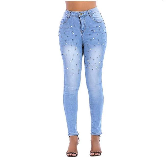 DAMENGXIANG Jeans Apretados Elásticos De Las Mujeres Moda ...