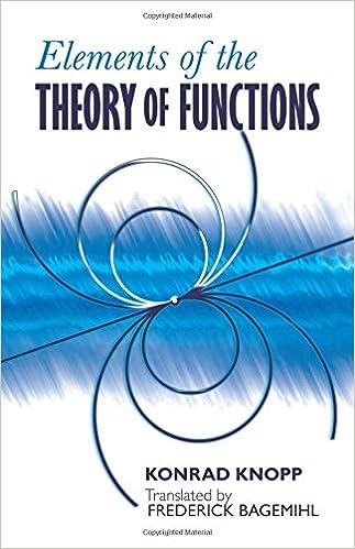 609f986675 Elements of the Theory of Functions (Dover Books on Mathematics): Konrad  Knopp, Bagemihl Frederick: 9780486601540: Amazon.com: Books