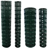 Easipet Galvanised PVC Coated Garden Fencing Green Steel Wire Mesh Fence 4 sizes (90cm x 25m)