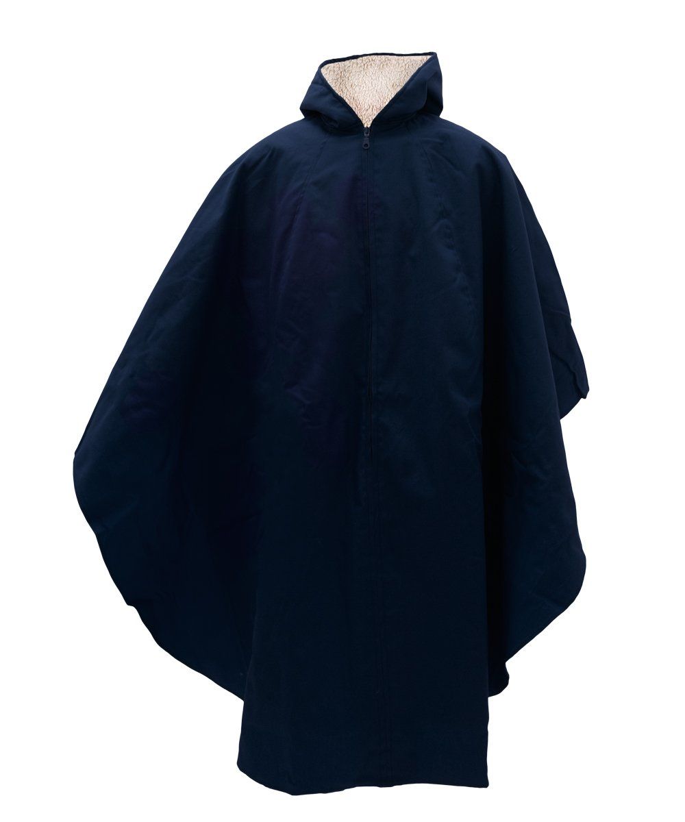 Adaptive Clothes - Womens and Mens Unisex Adaptive Wheelchair Lined Cape - Navy