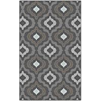 Brumlow Mills EW10106-30x46 Modern Moroccan Trellis Gray and Brown Area Rug, 26 x 310