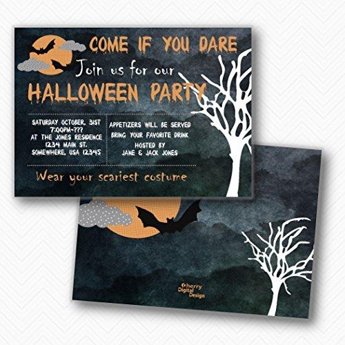 Scary Halloween Party Invitations | Envelopes - Halloween Scary Party Invitations