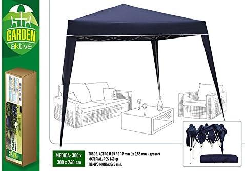 Aktive Garden 53859 - Cenador Plegable 300 x 300 x 240 cm: Amazon ...
