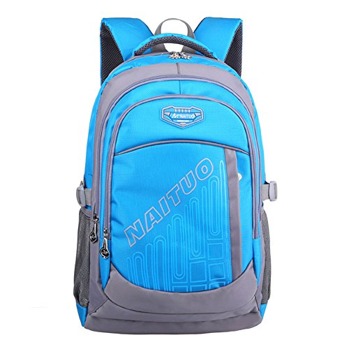 Gaintteam Heavy Duty Strong Students Book Bag School Backpack for Boys Blue