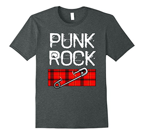 Rocker Costume Ideas (Mens Punk Rock Music Novelty Tshirt Easy Costume Party Idea XL Dark Heather)