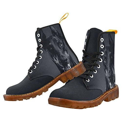 D-Story Shoes Doberman Dog Lace Up Martin Boots For Men
