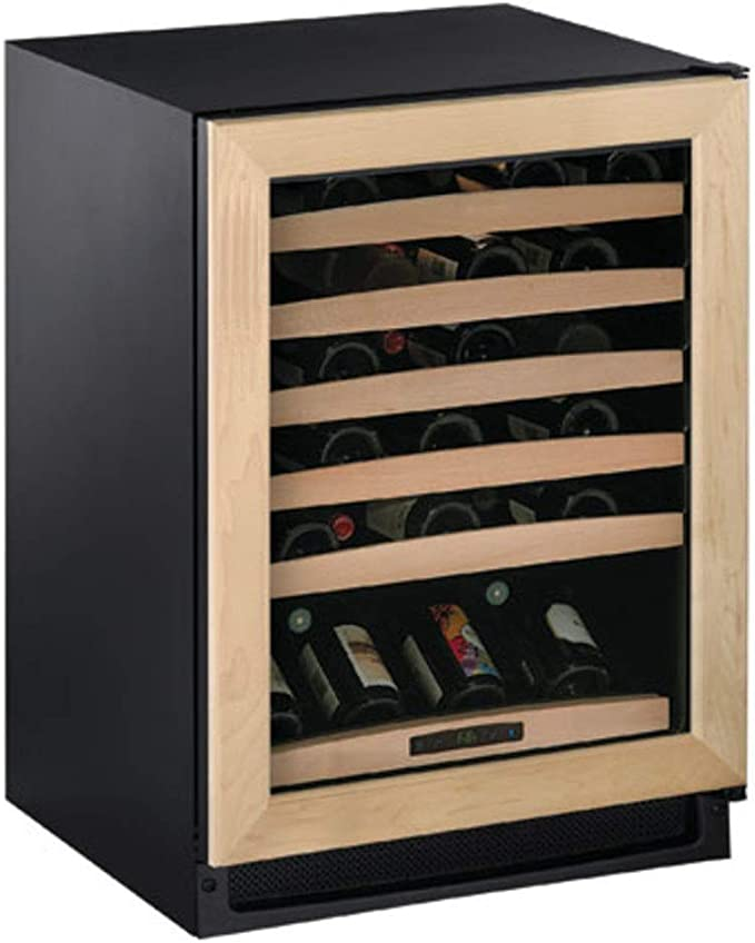 U-Line U1215WCINT00A Wine Captain 1000 Series 15-Inch Undercounter Wine Storage 24-Bottle Capacity Led Lighting Natural Beechwood