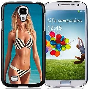Fashionable Custom Designed Cover Case Samsung Galaxy S4 I9500 i337 M919 i545 r970 l720 With Candice Swanepoel Striped Bikini1 Phone Case Cover