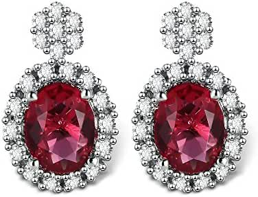 T400 Jewelers Vintage Crystal CZ Stud Earrings Love Gift