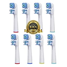 Dr. Kao® 8 pack replacement Toothbrush Heads for Braun Oral B electric toothbrush heads for braun toothbrush heads Dual Clean Made with Dupont Nylon (SB-417A) for oral b heads for oral be electric toothbrush 8 pack Toothbrush oral b Electric toothbrushes for Braun Oral-B electric toothbrushes for oral b toothbrush for oral b pro 2000 heads for oral b 2000 heads for oral b pro heads for braun series 7 heads for braun electric toothbrushes (8)