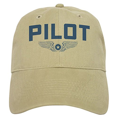 CafePress Pilot Baseball Cap with Adjustable Closure, Unique Printed Baseball Hat Khaki