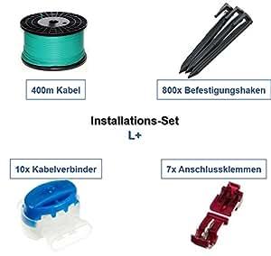 Instalación Set L + Gardena r38li R40LI r45li Cable Ganchos del conector del paquete kit