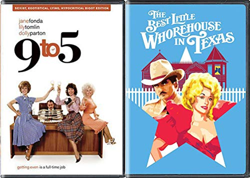 Miss Mona Chicken Ranch Best Little Whorehouse in Texas & 9 to 5 Girls in the Office DVD women Bundle Double Feature