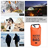 YTYC Drifting Waterproof Bucket Travel Waterproof Bags Organizer Bucket Bag Single Shoulder Orange (2L)