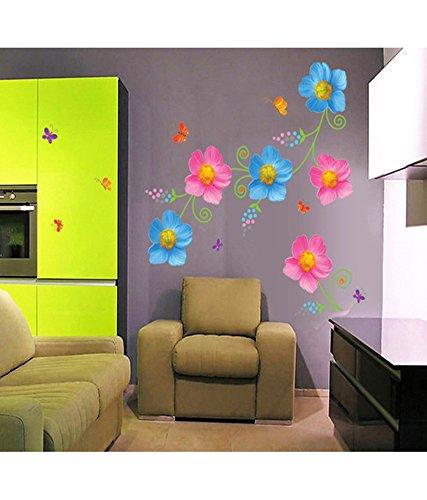 Decals Design 'Flowers with Butterflies' Wall Sticker