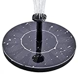 Solar Water Fountain for Bird bath, Solar Fountain Water Pumps Freestanding Submersible for Small Pond,Fish Tank, Patio, Garden Decoration 1.4 W Solar Panel Water Pump Kit, Solar Pond Pump