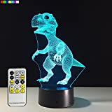 Easuntec Night Light Dinosaur 7 Colors Change with Remote Control Good Night light for Nursery or Kids Bedroom by (Dinosaur)