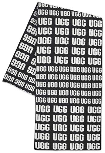 UGG Women's UGG Logo Knit Scarf Black One Size for sale  Delivered anywhere in USA