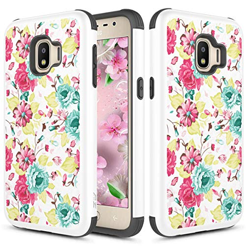 Phonelicious Samsung J2 Core Case, J2 (2019), J2 Dash, Galaxy J2 Pure Dual Layer Slim Fit Shockproof Hybrid Rugged Accessory Impact Protective Armor Phone Cover (Colorful Flower)