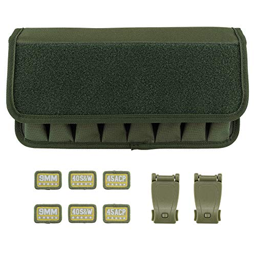 Raiseek Molle 8 Mag Pouch with Cover, Pistol Magazine Storage Pouch ()