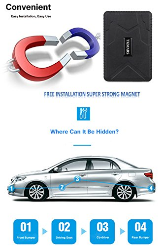 Hangang Car Tracker Vehicle Tracker GPS Tracker Car Locator Vehicle for Tracker Waterproof GPS Locator, Real Time Tracking Device, Car Bus Truck Vehicle GPS No Installation Support Andriod and IOS by Hangang (Image #2)