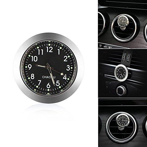 (Car Dashboard Clock,Mini Car Quartz Clock, Round Car Air Vent Clock, Universal Automobile Vehicle Dashboard Clock Perfect Decoration for Car, SUV and Mpv,Great (1.7