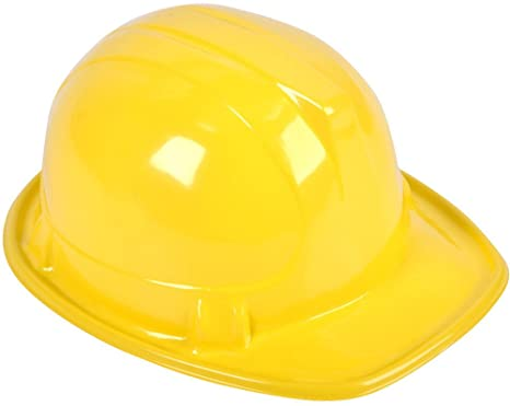 Amazon.com: Adultos S construcción Sombrero Amarillo: Clothing