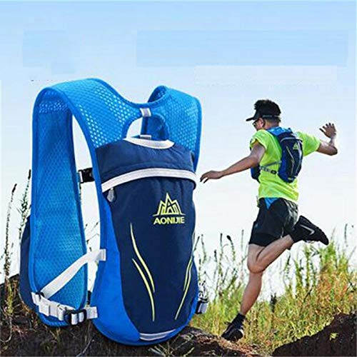 POJNGSN Hydration Nylon 5.5L Outdoor Running Bags Hiking Vest Cycling Backpack Blue 1 by POJNGSN (Image #7)