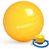 Allcare Exercise Stability Yoga Gym Balls - Anti-Burst with Pump - Multiple Colours