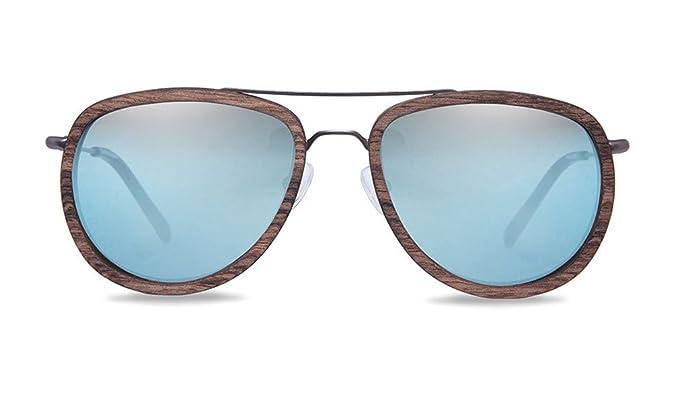 KERBHOLZ Unisex Sonnenbrille Ferdinand Walnut SUNWFER0075 One Size Super Blue 4bQ4a