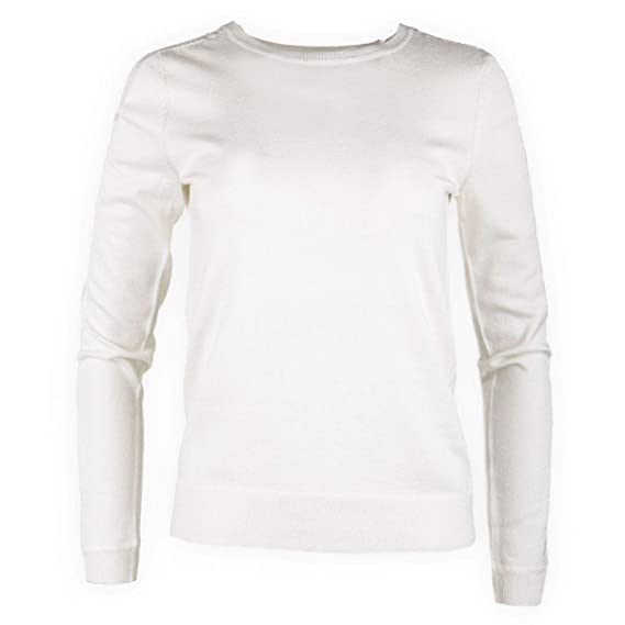 Best Mountain Pull Blanc empiècement Dentelle Femme M Blanc  Amazon ... 8a4cba8f464
