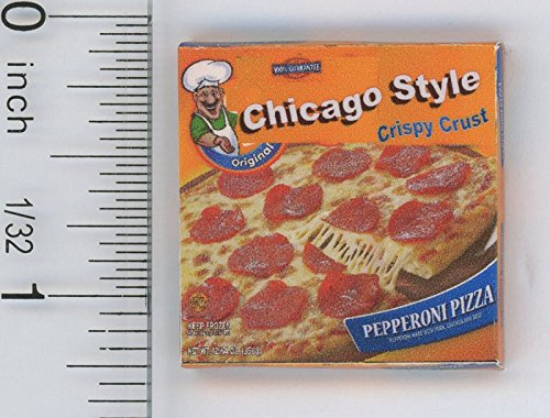 Dollhouse Miniature 1:12 Scale Box of Chicago Style Frozen Pizza by Cindi's Mini's -  CMG056