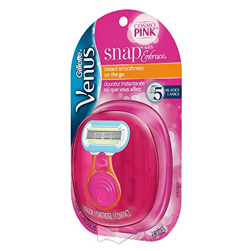Gillette Venus Women's Snap Embrace Razor with Razor Refill, 1 PACK, Womens Razors / Blades