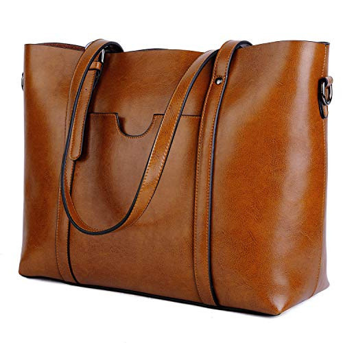 3dd80d7c63f07 SHOPUS | YALUXE Women's Vintage Style Soft Leather Work Tote ...