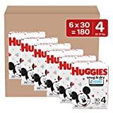 Huggies Snug & Dry Baby Diapers, Size 4, 180