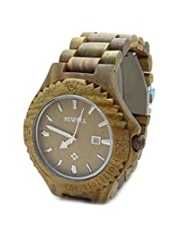 Handmade Wooden Watch Made with Natural Sandalwood in Green - HGW-075