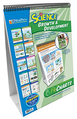 Growth of Plants and Animals Flip Chart Set (Grades 3 - 5) - 10 Laminated Write-On/Wipe-Off, Double-Sided Charts Mounted on Easel with Activity Guide