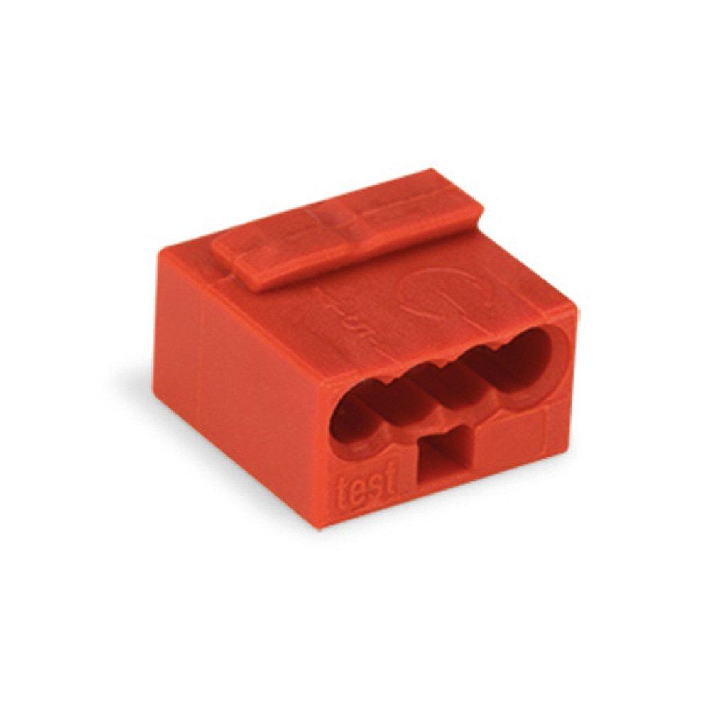 10x Wago 243-804 MICRO Verbindungsklemme - mini Wago - 4-fach - Verteilerklemme - Dosenklemme - rot