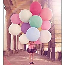 Lovef 10 Pcs/lot Super Big Balloons 27 Inches Round Balloons Large Balloons 12g Wedding Party Holiday Toys Arrangement