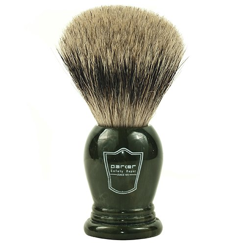 Parker Safety Razor King Size 100% Pure Badger Bristle Shaving Brush - Brush Stand Included w