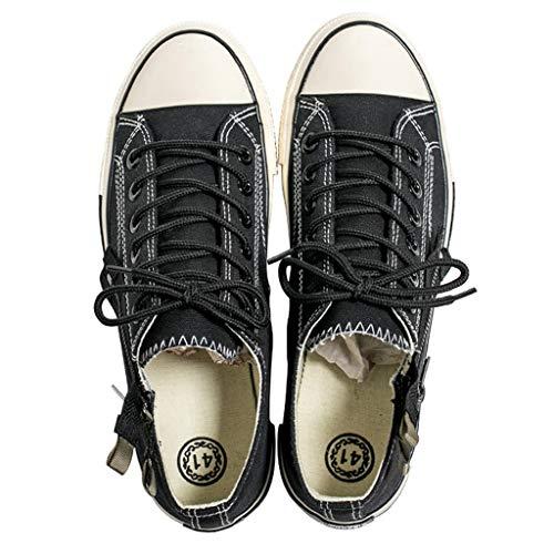 uomo tela WangKuanHome Black da selvaggia Scarpe estiva di casual scarpe Size scarpe da di 40 scarpe Black denim Color tendenza tela uomo 7axwq8r71