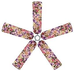 Fan Blade Designs 6539 Ceiling Fan Blade Covers, Bouquet
