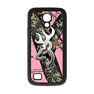 Novel Design Browning Cutter Logo Pink Camo Samsung Galaxy S4 mini i9192/i9198 Best Back Covers TPU Case