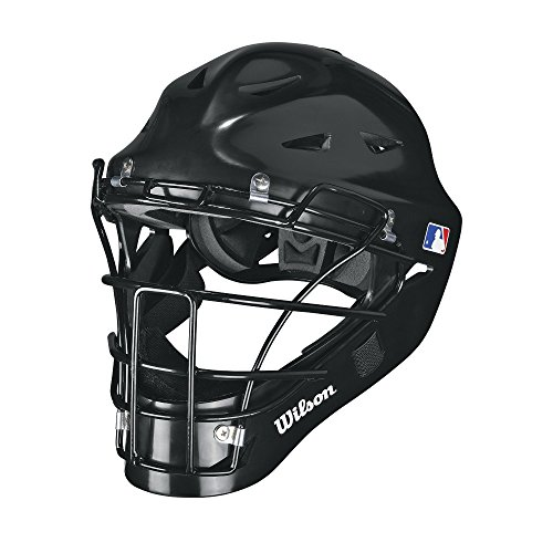 Wilson Prestige Catcher's Helmet, Black, Small/Medium