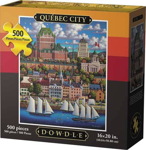 City 500 Jigsaw Piece (Dowdle Jigsaw Puzzle - Quebec City - 500 Piece)