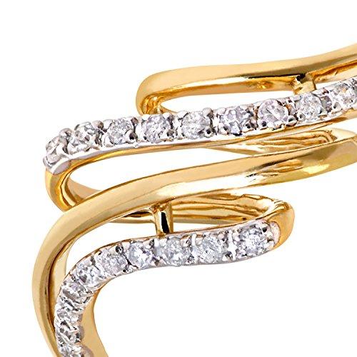 Bague Femme - Or Jaune 375/1000 (9 Cts) 2 Gr - Diamant