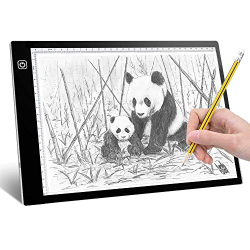 Light Pads for Tracing - Super Clear A4 Tracing Light Box for Kids Artist, Stepless Adjusted Eye Protected Light Box Tracer, USB Powered Led Tracing Pad for Sketching Diamond Painting X-Ray Viewing