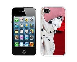 Custom-ized Christmas Dog White iPhone 4 4S Case 12